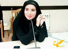 ژیلا آقاغفاری دبیر مجمع جوانان استان اردبیل