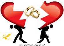 البرز دارای رتبه دوم طلاق در کشور
